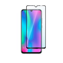 Honor 10 Lite Full Coverage Full Glue Back 9H Anti-Shatter Tempered Glass Screen Protector - Black