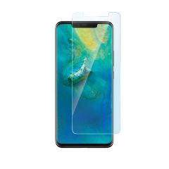 Huawei Mate 20 Pro Case Compatible Clear 9H Tempered Glass Screen Protector
