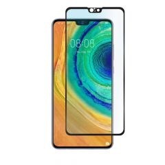 Huawei Mate 30 Full Glue Anti-Fingerprint Anti-Shatter Full Coverage Tempered Glass Screen Protector - Black
