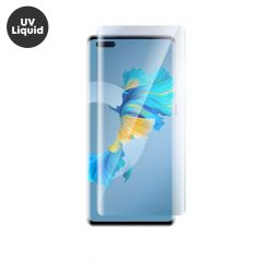 Huawei Mate 40 Pro UV Liquid Curved Tempered Glass Screen Protector Full Coverage