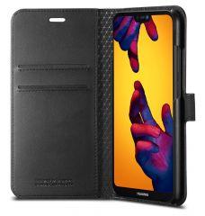 Huawei P20 Lite Leather Flip Wallet Case with Card Slots - Spigen Wallet S