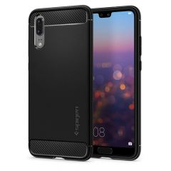Huawei P20 Gel TPU Carbon Fiber Design Case - Spigen Rugged Armor