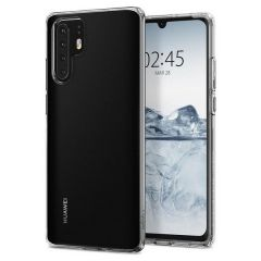 Huawei P30 Pro - Spigen Liquid Crystal Gel TPU Protective Transparent Cover Case - Clear