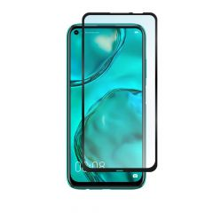Huawei P40 Lite Full Glue Anti-Shatter Anti-Fingerprint Full Coverage Tempered Glass Screen Protector - Black