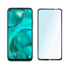 Huawei P40 Lite E Full Glue Anti-Fingerprint Anti-Shatter Full Coverage Tempered Glass Screen Protector - Black