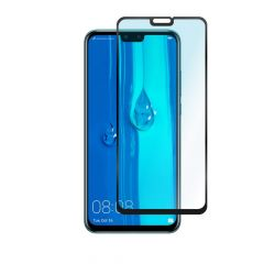 Huawei Y9 2019 Full Glue Anti-Shatter Anti-Fingerprint Full Coverage Tempered Glass Screen Protector - Black