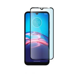 Motorola Moto E6s (2020) Full Coverage Full Glue Back 9H Tempered Glass Screen Protector - Black