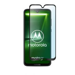 Motorola Moto G7 Plus Edge to Edge Full Glue Back 9H Anti-Fingerprint Tempered Glass Screen Protector - Black