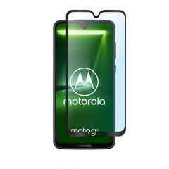 Motorola Moto G7 Plus Full Coverage Tempered Glass Screen Protector - Black