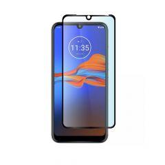 Motorola Moto E6 Plus Full Coverage Full Glue Back 9H Tempered Glass Screen Protector - Black