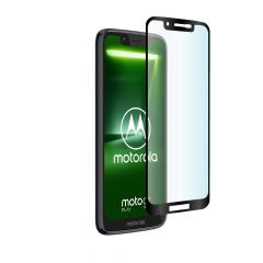 Motorola Moto G7 Play Edge to Edge Full Glue Back 9H Anti-Fingerprint Tempered Glass Screen Protector - Black