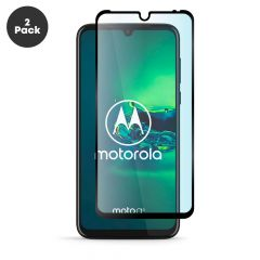 Motorola Moto G8 Plus - Edge to Edge Full Glue Back 9H Anti-Fingerprint Tempered Glass Screen Protector - Black