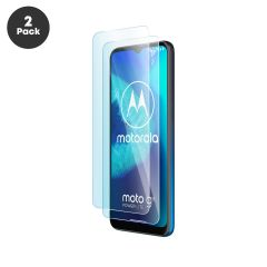 Motorola Moto G8 Power Lite Case Compatible Tempered Glass Screen Protector - 2 Pack