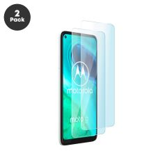 Motorola Moto G8 Case Compatible 9H 2.5D Tempered Glass Screen Protector - 2 Pack