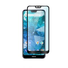 Nokia 7.1 Full Coverage Anti-Shatter Toughened Tempered Glass Screen Protector - Black