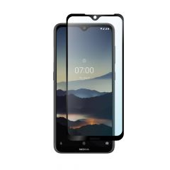 Nokia 7.2 Full Coverage Anti-Fingerprint Anti-Shatter 9H Fulll Glue Tempered Glass Screen Protector - Black