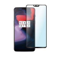 OnePlus 6 Full Glue Anti-Shatter Anti-Fingerprint Full Coverage Tempered Glass Screen Protector - Black