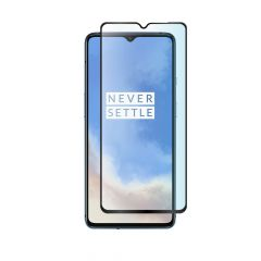 OnePlus 7T Full Glue Anti-Fingerprint Anti-Shatter Full Coverage Tempered Glass Screen Protector - Black