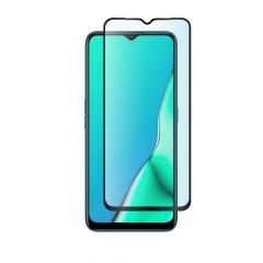Oppo A9 2020 Full Glue Anti-Shatter Anti-Fingerprint Full Coverage Tempered Glass Screen Protector - Black