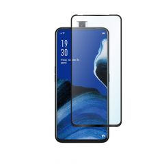 Oppo Reno 2Z Full Glue Anti-Shatter Anti-Fingerprint Full Coverage Tempered Glass Screen Protector - Black