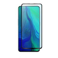 Oppo Reno Edge to Edge Full Glue Back Ultra HD Anti-Fingerprint Clear Tempered Glass Screen Protector - Black