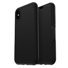 Apple iPhone XS / X OtterBox Strada Folio Leather Wallet Book Case - Black