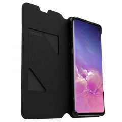 Samsung Galaxy S10 OtterBox Strada Via Series Folio Book Case - Black Night