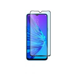 Realme 5 / Q Full Coverage Anti-Shatter 9H Oleophobic Coated Tempered Glass Screen Protector Guard