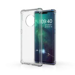 Huawei Mate 30 Pro Shockproof Gel TPU Hybrid Case Cover Air-Pocket Corners Transparent - Clear