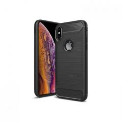Rigid Gear iPhone XS Heavy Duty TPU Gel Case Brushed Carbon Fiber - Black