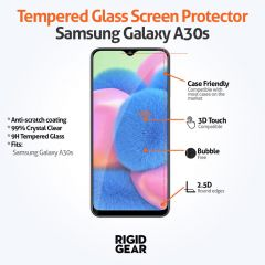 Samsung Galaxy A30s Case Compatible Tempered Glass Screen Protector