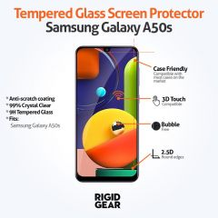 Samsung Galaxy A50s Case Compatible Tempered Glass Screen Protector