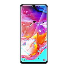 Samsung Galaxy A70 Case Compatible Clear 9H Tempered Glass Screen Protector