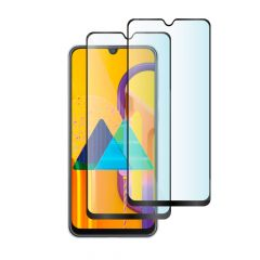 Pack of 2 x Samsung Galaxy M30s Edge to Edge Full Glue Back 9H Anti-Shatter Tempered Glass Screen Protector