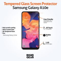 Samsung Galaxy A10e Case Compatible Anti-Shatter Tempered Glass Screen Protector Crystal Clear