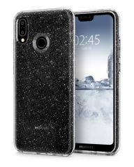 Huawei P20 Lite Gel TPU Clear Glitter Case - Spigen Liquid Crystal Glitter