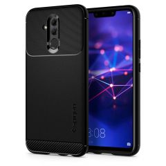 Huawei Mate 20 Lite Gel TPU Carbon Fiber Case - Spigen Rugged Armor