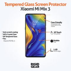 Xiaomi Mi Mix 3 Case Compatible 9H Toughened Anti-Shatter Tempered Glass Screen Protector