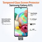 Samsung Galaxy A71 Case Compatible Anti-Shatter Tempered Glass Screen Protector Crystal Clear